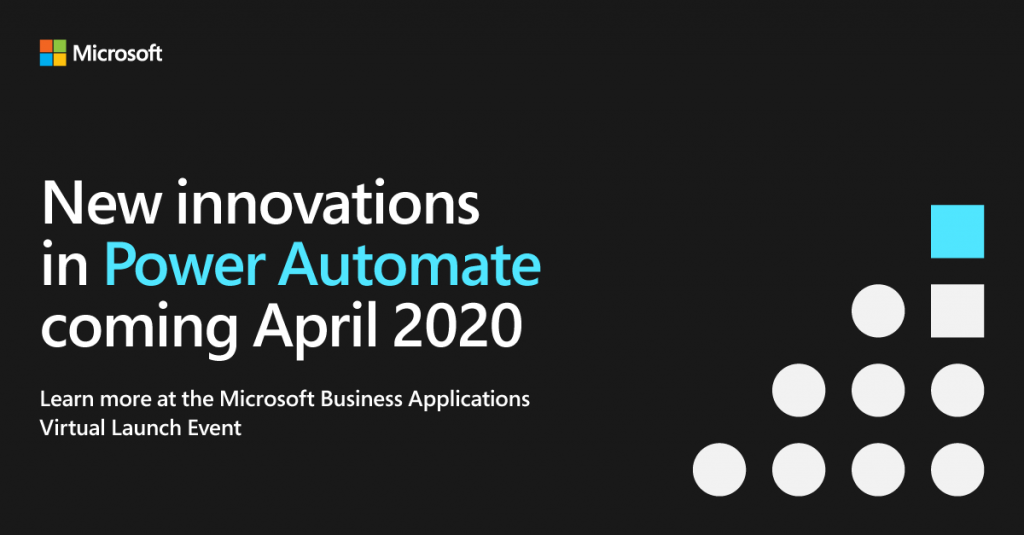 Microsoft Business Applications Virtual Launch Event April 2020.